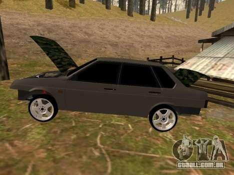 VAZ 21099 Clássico para GTA San Andreas traseira esquerda vista