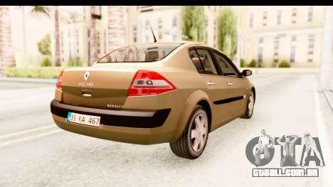 Renault Megane 2 Sedan 2003 para GTA San Andreas traseira esquerda vista