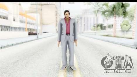 Yakuza 5 Kazuma Kiryu para GTA San Andreas segunda tela