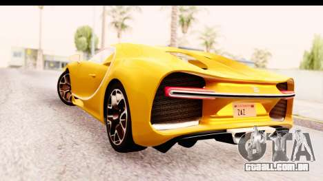 Bugatti Chiron 2017 v2.0 Updated para GTA San Andreas esquerda vista