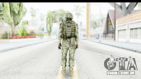 Croatian Soldier para GTA San Andreas terceira tela