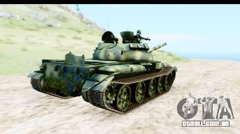 T-62 Wood Camo v3 para GTA San Andreas traseira esquerda vista
