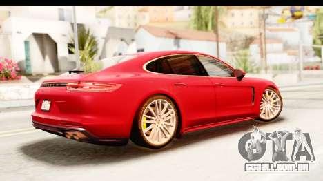 Porsche Panamera 4S 2017 v5 para GTA San Andreas esquerda vista