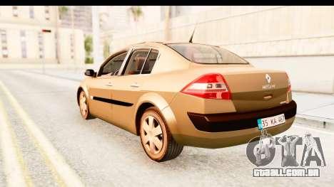 Renault Megane 2 Sedan 2003 para GTA San Andreas esquerda vista