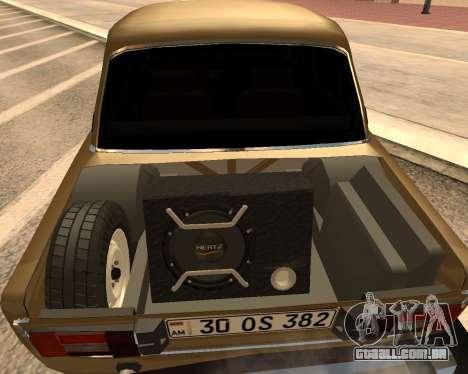 VAZ 2106 Armenian para GTA San Andreas esquerda vista