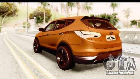 Hyundai Santa Fe 2015 para GTA San Andreas esquerda vista