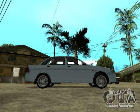 Lada Priora Arménia para GTA San Andreas vista direita