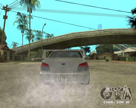 Subaru Impreza Armenian para o motor de GTA San Andreas