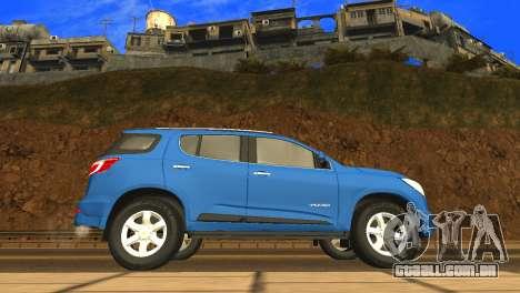 Chevrolet TrailBlazer 2015 LTZ para GTA San Andreas traseira esquerda vista