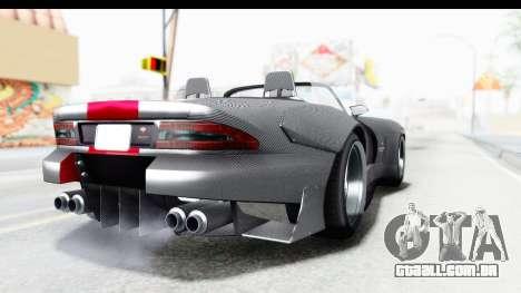 GTA 5 Bravado Banshee 900R Carbon Mip Map para GTA San Andreas traseira esquerda vista