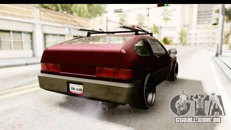 Blistac Tio Sam para GTA San Andreas traseira esquerda vista