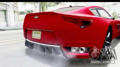 GTA 5 Dewbauchee Seven 70 IVF para GTA San Andreas vista inferior