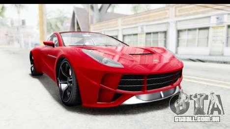 GTA 5 Dewbauchee Seven 70 IVF para GTA San Andreas vista direita