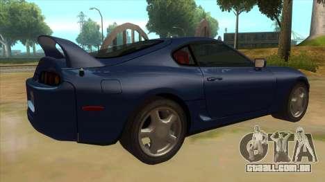 Toyota Supra Tunable para GTA San Andreas vista direita