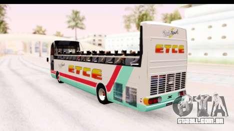 Bus Tours Dic Megadic 4x2 ETCE para GTA San Andreas esquerda vista