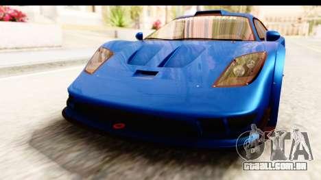 GTA 5 Progen Tyrus IVF para GTA San Andreas vista superior