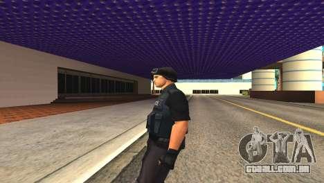 Original SWAT pele sem máscara para GTA San Andreas por diante tela