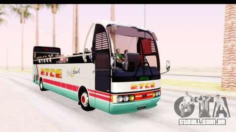 Bus Tours Dic Megadic 4x2 ETCE para GTA San Andreas vista direita