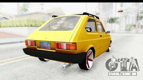 Fiat Spazio Tr Street para GTA San Andreas esquerda vista