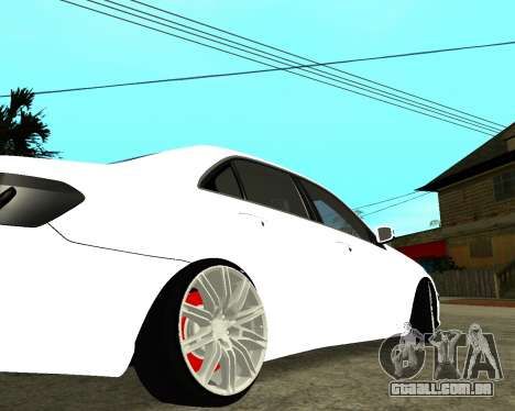 Mercedes-Benz E250 Armenian para GTA San Andreas vista superior