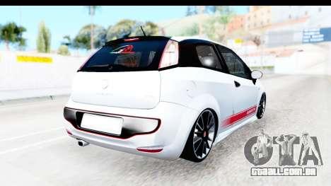 Fiat Punto Abarth para GTA San Andreas traseira esquerda vista