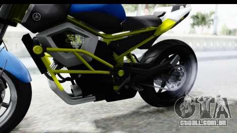 Yamaha Cage Sic para GTA San Andreas vista traseira