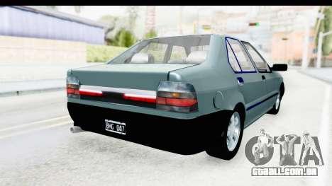 Renault 19 RE para GTA San Andreas traseira esquerda vista
