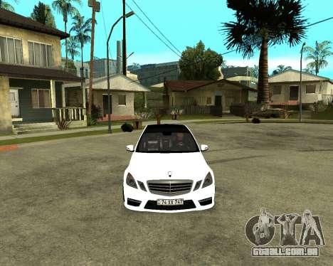 Mercedes-Benz E250 Armenian para GTA San Andreas traseira esquerda vista
