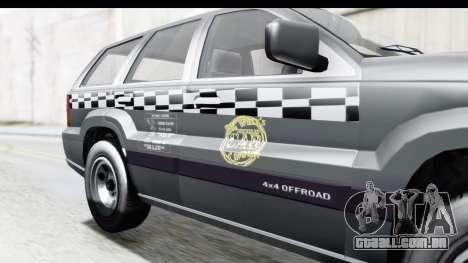 GTA 5 Canis Seminole Taxi para GTA San Andreas vista traseira