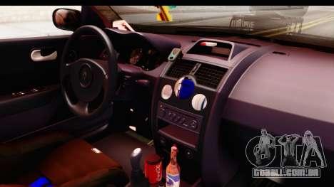 Renault Megane Spyder Full Tuning v2 para vista lateral GTA San Andreas