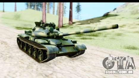 T-62 Wood Camo v3 para GTA San Andreas vista direita