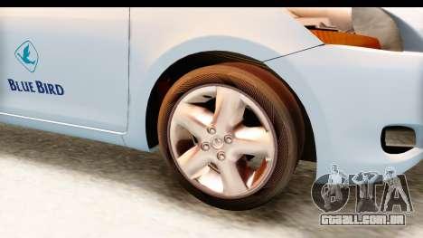 Toyota Vios 2008 Taxi Blue Bird para GTA San Andreas vista traseira