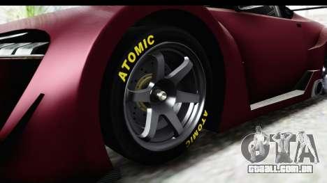 GTA 5 Emperor ETR1 SA Lights para GTA San Andreas vista traseira