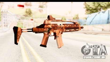 SCAR-LK Hex Camo Tan para GTA San Andreas segunda tela