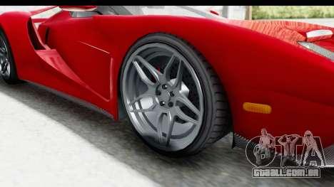 GTA 5 Vapid Bullet Face FMJ para GTA San Andreas vista traseira