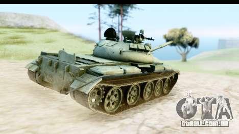 T-62 Wood Camo v1 para GTA San Andreas vista direita