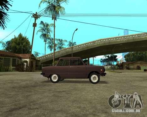 ZAZ 968M Arménia para GTA San Andreas vista direita
