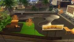Novas texturas de um skate Park e hospital