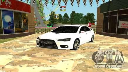 Mitsubishi Lancer X GVR para GTA San Andreas