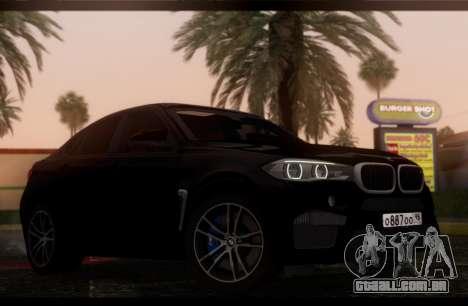 BMW X6M BULKIN ED. para GTA San Andreas traseira esquerda vista
