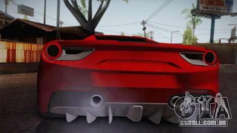 Ferrari 488 Spider para GTA San Andreas vista direita