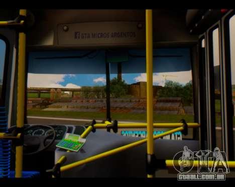 Para a empresa Tronador Linha Burgundy GTA Micro para GTA San Andreas vista direita