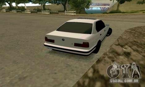 BMW 535i E34G para GTA San Andreas vista direita