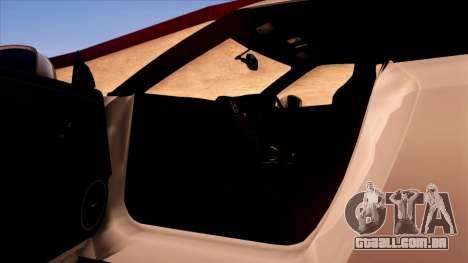 Nissan GT-R R35 para GTA San Andreas interior