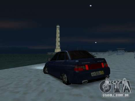 VAZ 2110 Beta Tuning para GTA San Andreas esquerda vista