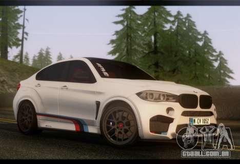 BMW X6M PML ED para GTA San Andreas traseira esquerda vista