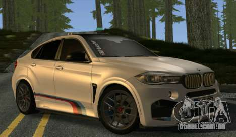 BMW X6M PML ED para GTA San Andreas vista traseira