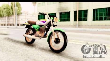 Yamaha RX115 Colombia para GTA San Andreas vista direita
