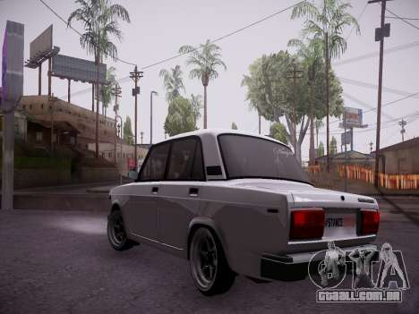 VAZ 2107 Tipo-stance para GTA San Andreas traseira esquerda vista