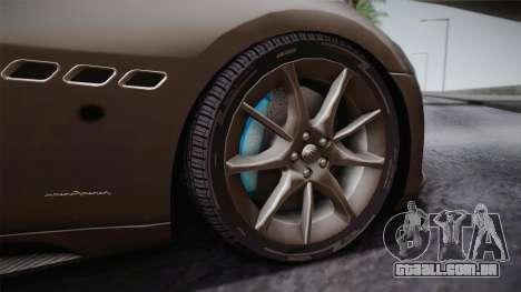Maserati Gran Turismo Sport para GTA San Andreas vista traseira